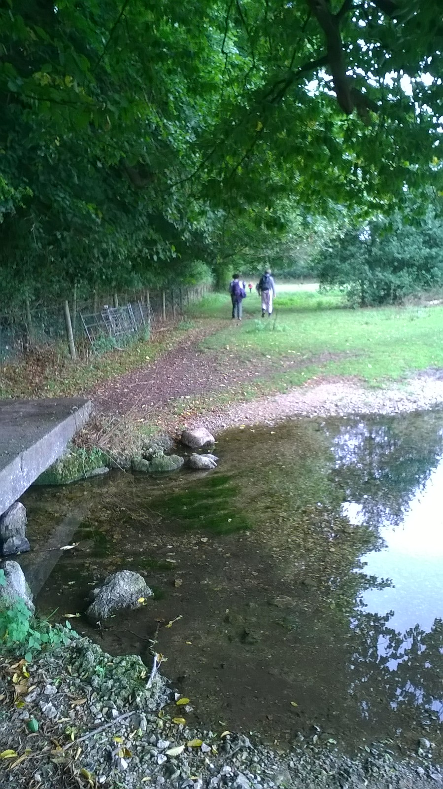 The way across stone walkway over stream where the horses drink - near Little Missenden