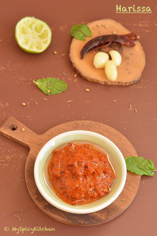 Blogging Marathon, Buffet On Table, Condiments, Tunisian chili sauce, Tunisian Food, Red Chili Sauce,