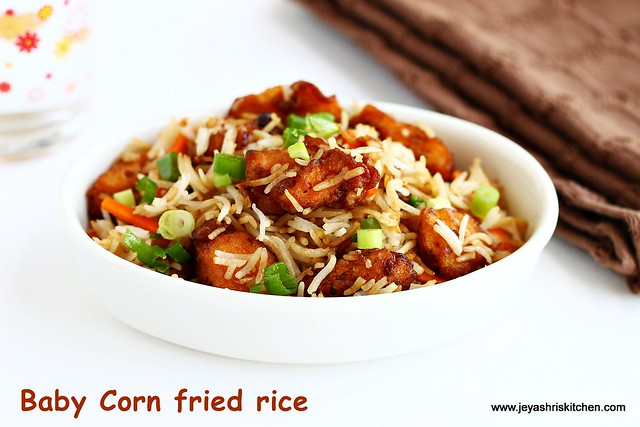 baby corn- fried rice