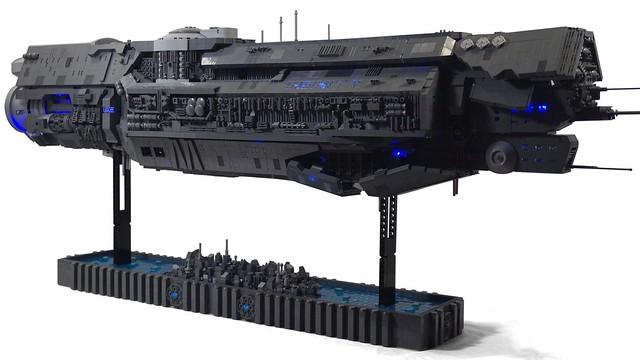 UNSC Infinity Lego Model