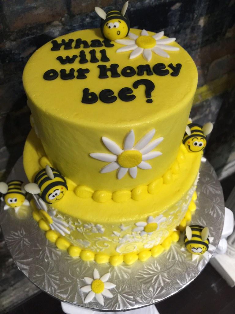 Honey Bee Baby Shower Cake