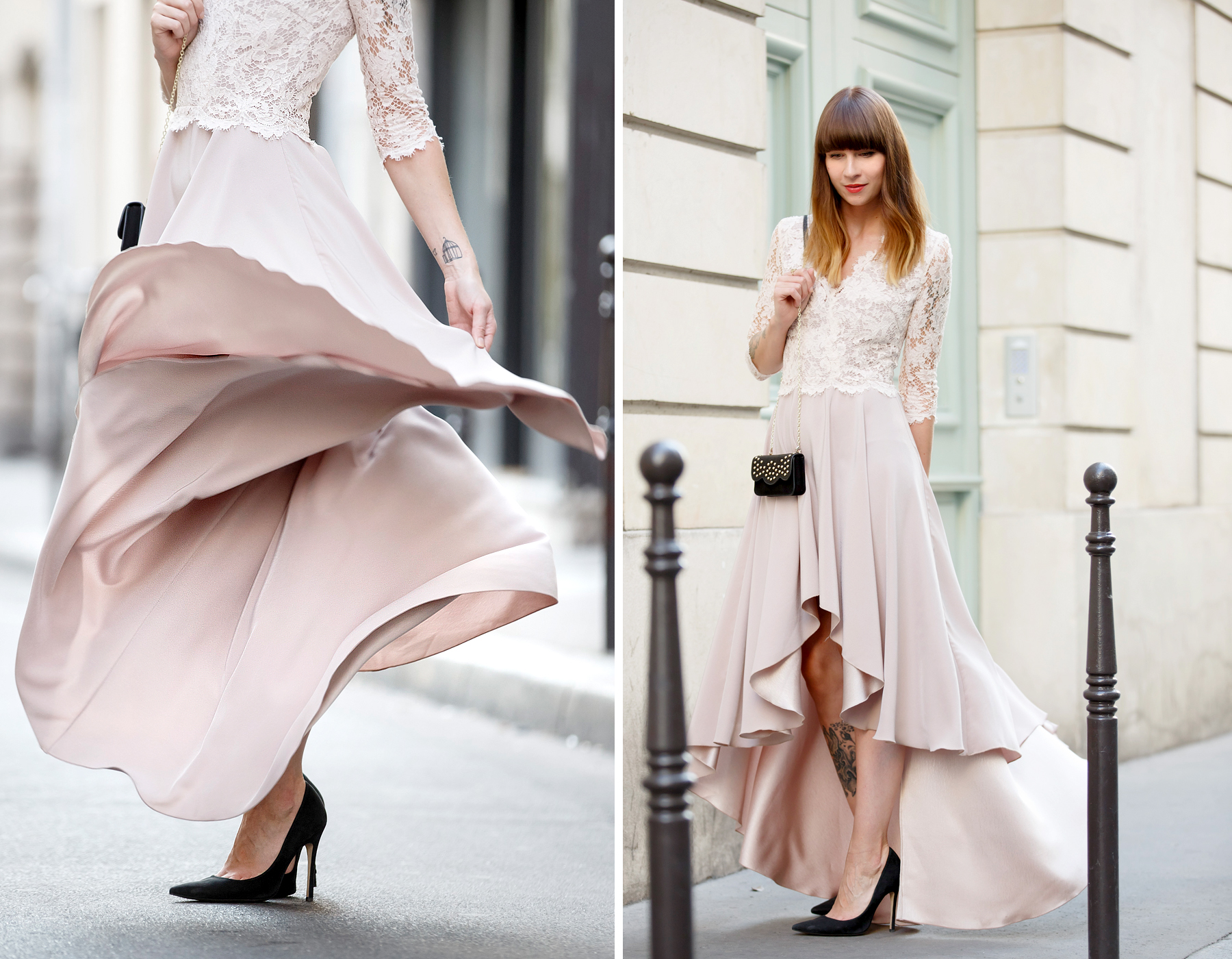 ewa herzog lace dress pastel rose paris le marais pfw fashion week ss16 ricarda schernus cats & dogs blog 3
