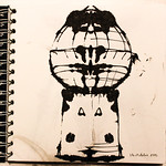 Water tower ink sketch