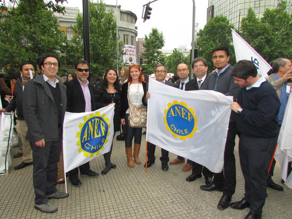 Gremios del FTH en marcha ANEF en apoyo Registro Civil - 28 Octubre 2015