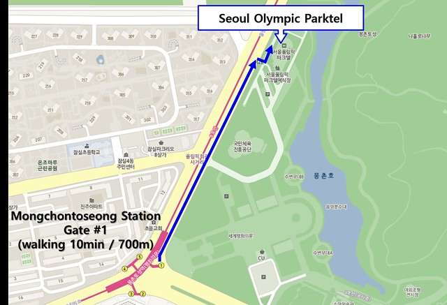 to Olympic parktel