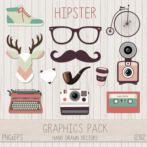 LeeLee Graphics - Hipster Clip Art