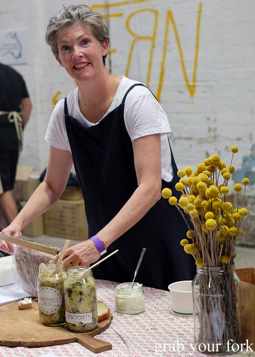 Kristen Allan's homemade cheeses at Rootstock Sydney 2015