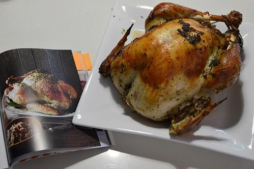 Roast turkey with herb marinade