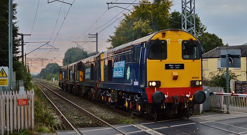 Direct Rail Services 20303, 20305, 20308 & 20312, 0Z08 Crewe - Barrow Hill, Alsager, 27/09/2016