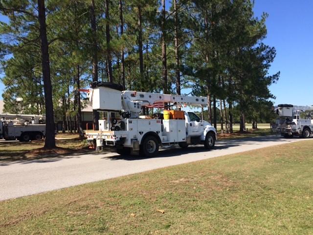 Convoy of Trucks (2) leave Ellabell, GA on 10.13.16
