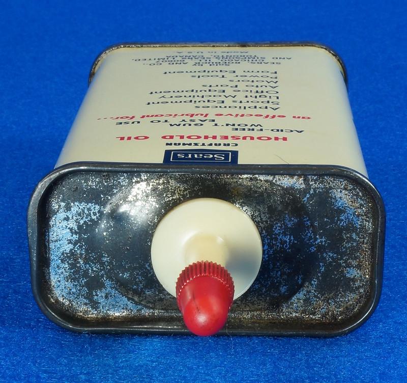 RD14508 Vintage SEARS Craftsman Household Oil 4oz Handy Oiler Can DSC06176
