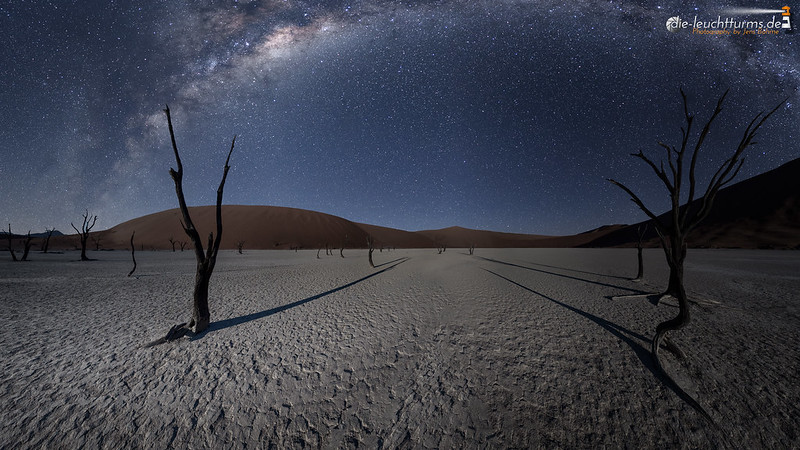 Moonlight in the Namib Desert