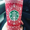 . @starbucks holiday cups are very artful.