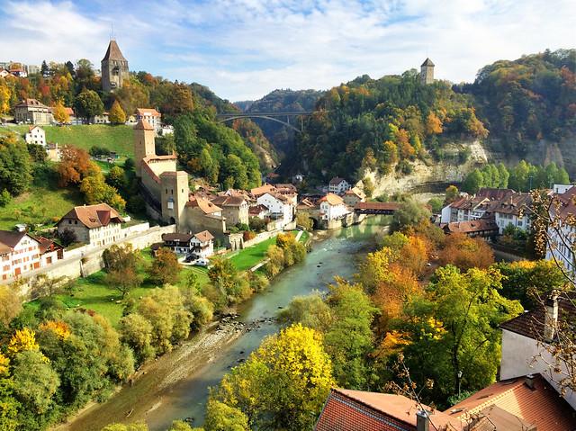Autumn in Fribourg, Switzerland