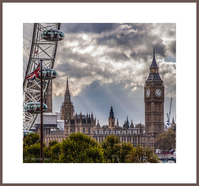 Noria y torre (vistas desde el Royal Festival Hall)