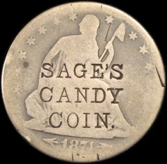 Sage Candy Coin counterstamp
