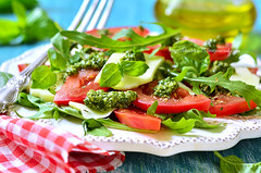 "Tomato salad ""Caprese"" with arugula,basi…"