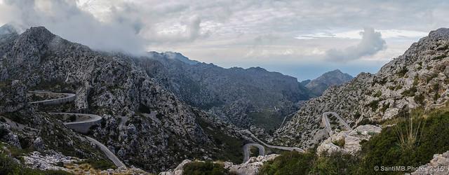 Carretera de Sa Calobra desde el Nus de Corbata