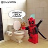 #LEGO #Deadpool #WC #WaterCloset #Toilet #Loo #FlushToilet @Marvel @lego_group @lego @bricknetwork @brickcentral
