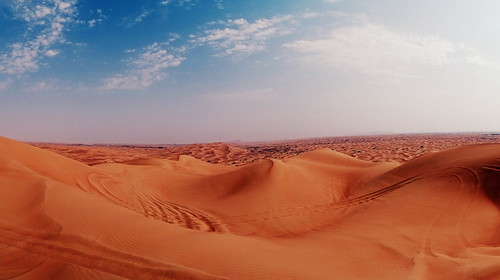 panorama dessert dubai view bluesky emirate vae vereinigte arabische