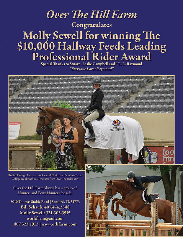 Molly Sewell wins $10,000 Hallway Feeds Leading Professional Rider Award