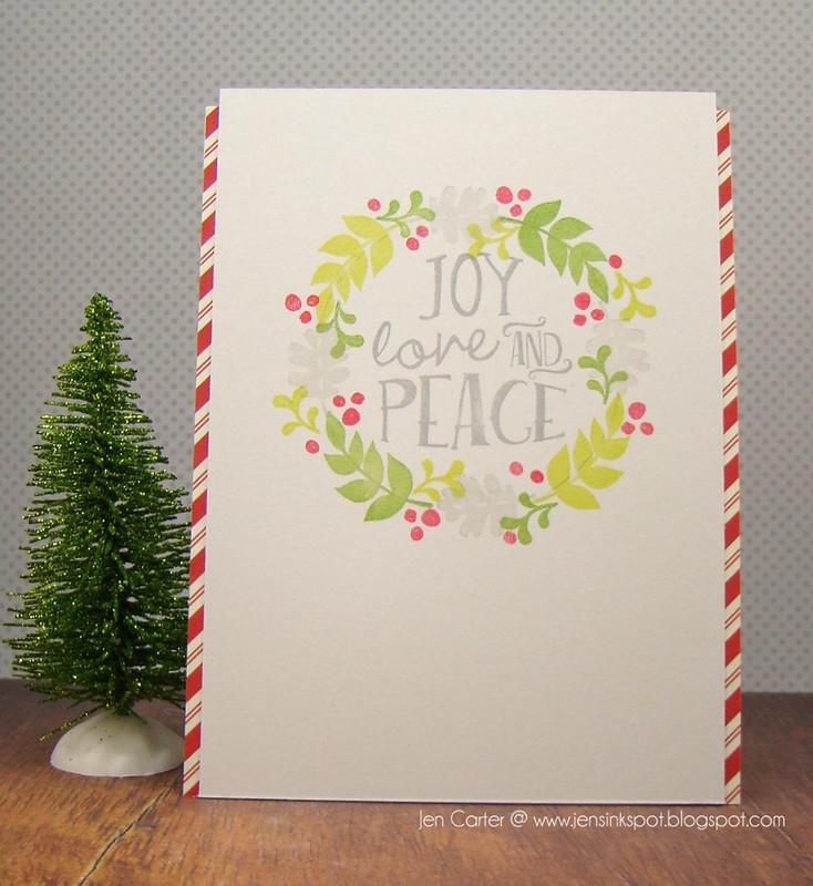 Jen Carter Joy Love Peace Wreath Front