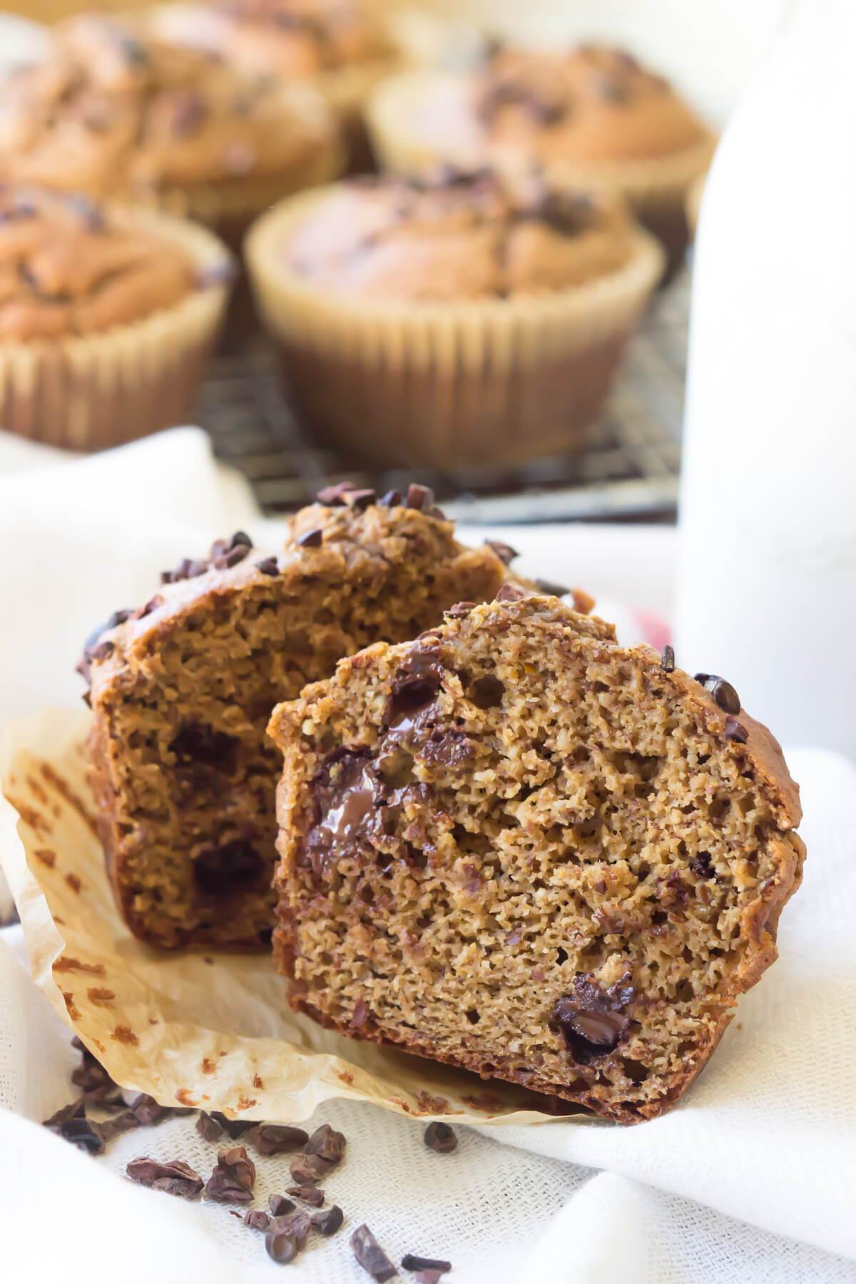 Paleo Chocolate Pumpkin Muffins | acalculatedwhisk.com