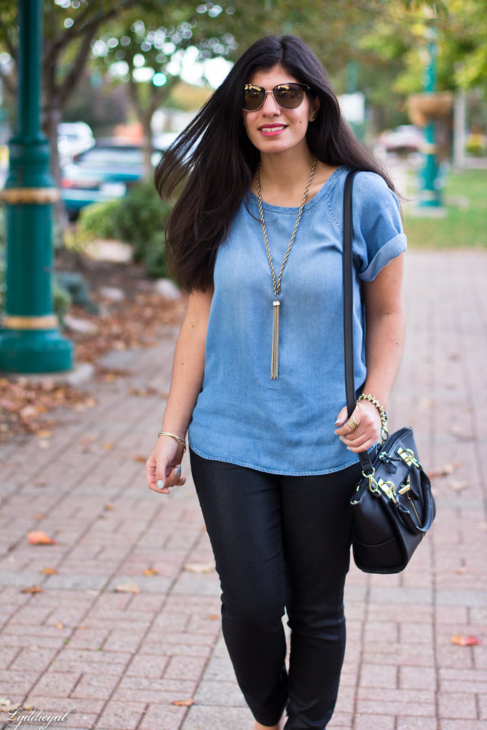 chambray tee, black coated jeans, leopard pumps-7.jpg