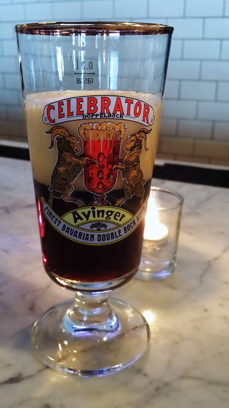Ayinger Celebrator, on draft