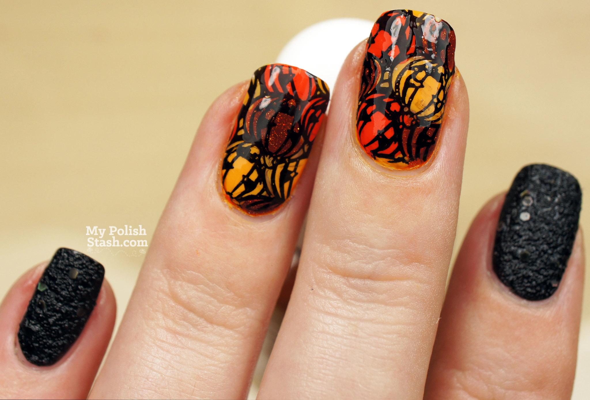 halloween-nails-pumpkins-2