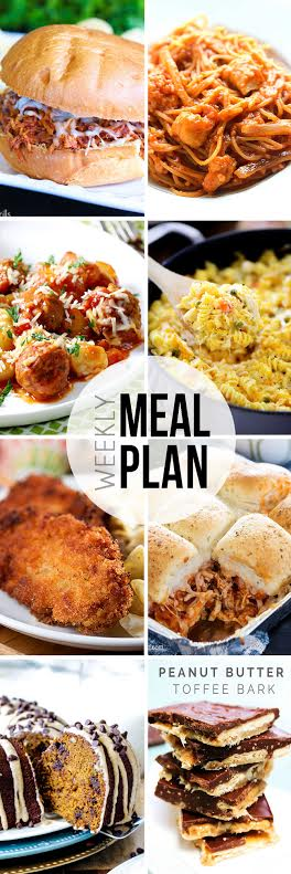 Week 19. Collaborative weekly meal planning. 9 bloggers. 6 dinner ideas, one weekend breakfast plus 2 desserts every single week equals one heck of a delicious menu!