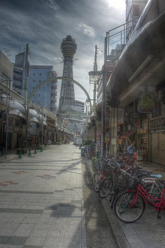 'Shin-Sekai' area, Osaka on OCT 31, 2015 (1)