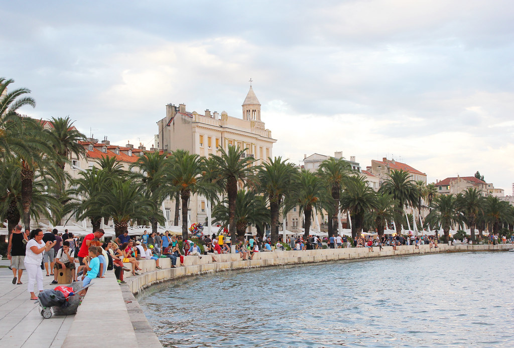 Split Croatia harbor