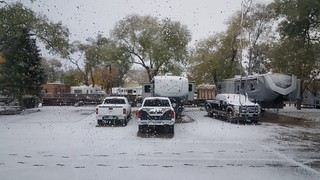 11/5 - We awoke to this this morning in Santa Fe!