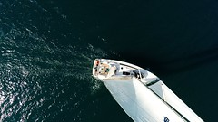 bavaria 46 bird view sailing yacht deck mast rigging sails