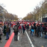 Sat, 12/12/2015 - 1:10pm - Big March at the end of the conference which went incredibly well as far as the eye can see there were several locations like this all conversion on the Eiffel Tower Paris climate change
