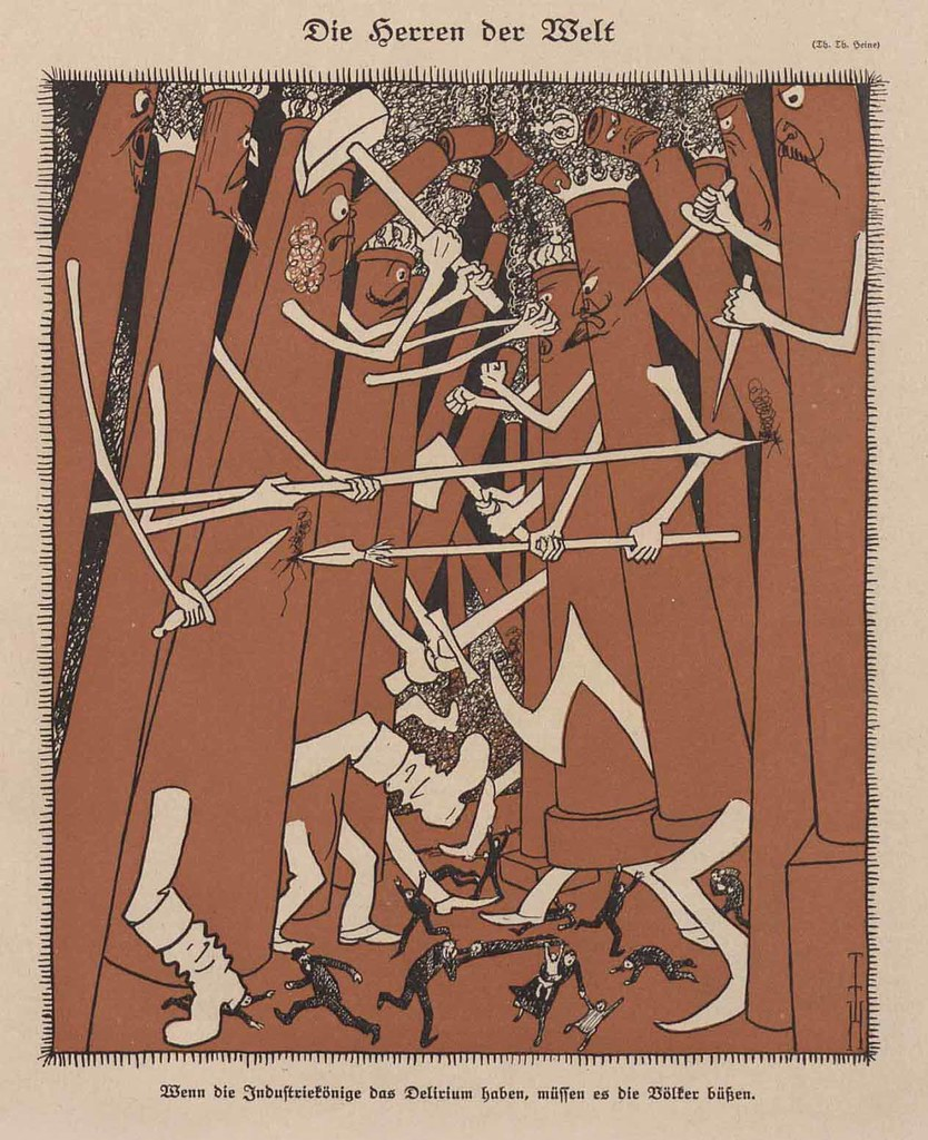 Thomas Theodor Heine - The Masters Of The World, 1922