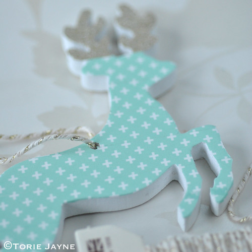 Washi tape deer ornament 6