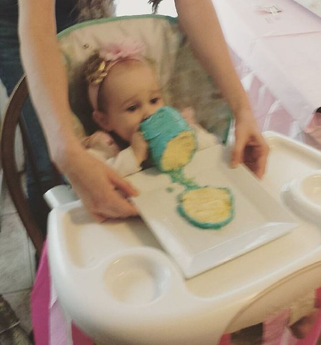 #throwbackthursday to Kaylee's first birthday last Saturday. Sometimes a cake just needs two hands!