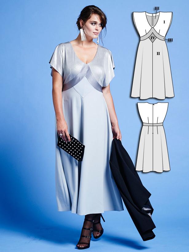 Batwing Midi Dress (Plus Size) 01/2016 #136B – Sewing Patterns ...