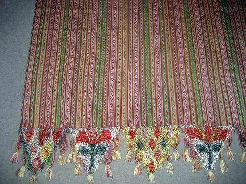 Mexican handwoven silk warp ikat rebozo