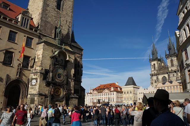 Praga. Plaza vieja ó `Plaza del Reloj