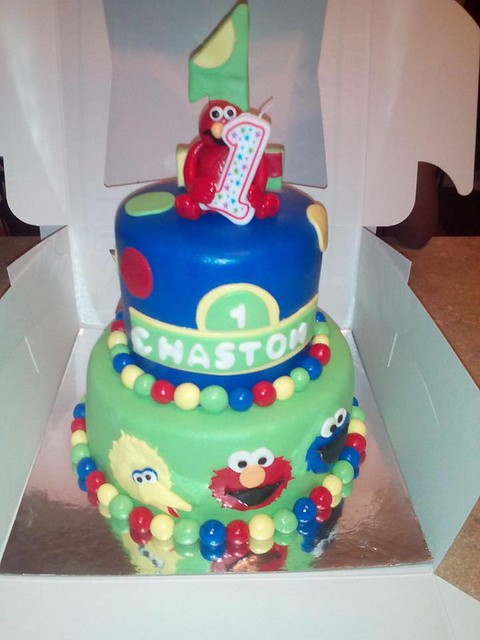 Sesame Street Themed Cake by Nicole Burtin of Nicole's Custom Creations (Nicole Burtin)