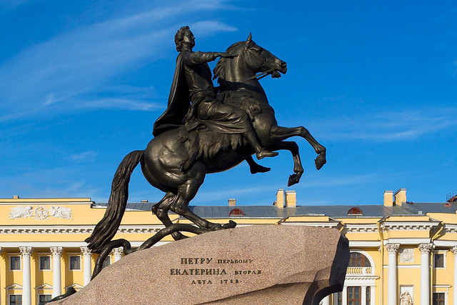 The Bronze Horseman statue of Peter the Great, St Petersburg. By Andrew Shiva