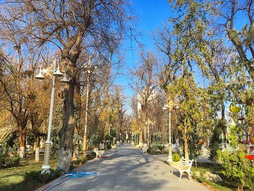 autumn garden park turkmenistan ashgabat