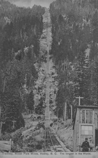 Nickel Plate Mine tramway, Hedley Gold Mining Co., Hedley, British Columbia / Tramway de la mine de nickel, Hedley Gold Mining Co., Hedley (Colombie-Britannique)
