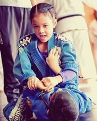 #CapitalMMA kids in action! #bjjgirls #bjjgirl #jiujitsugirls #graciejiujitsu #bjj #bjjkids #jiujitsukids #capitalfamily