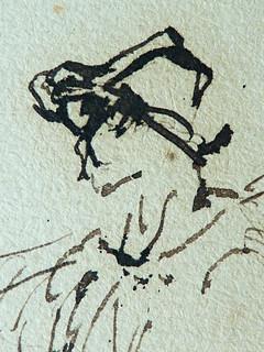 MILLET Jean-François,1850 - Départ pour le Travail, Etude - The Walk to Work  (drawing, dessin, disegno-Louvre RF11191) - Detail 11