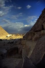 Ägypten 1999 (644) Kairo: Chephren-Pyramide, Gizeh