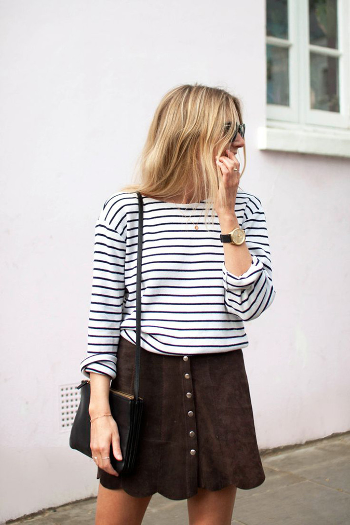 How to Wear Suede Skirt10